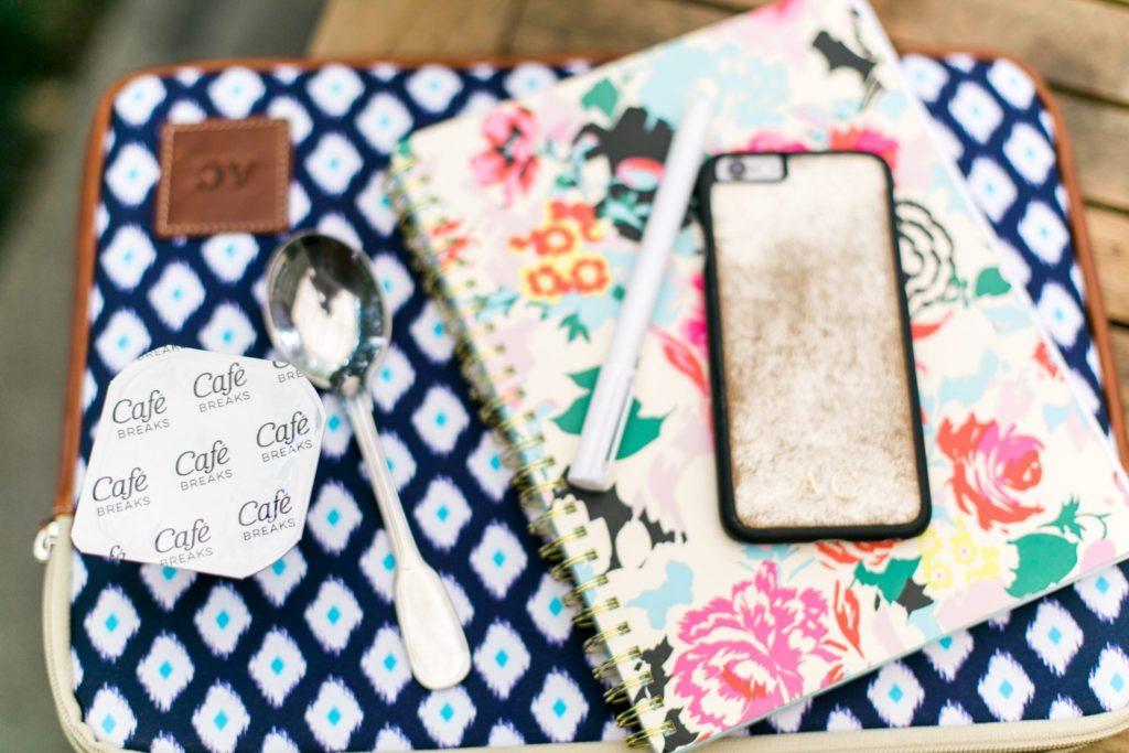 Cafe Breaks pudding, Bando Notebook, GiGi New York iPhone case