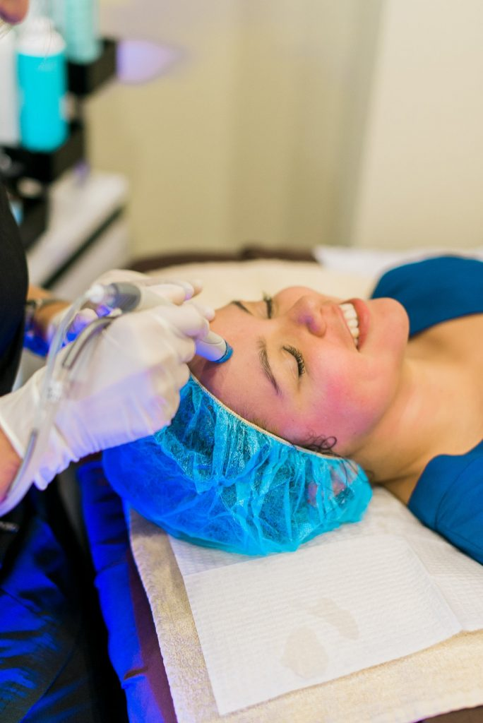 Hydrafacial skin treatment