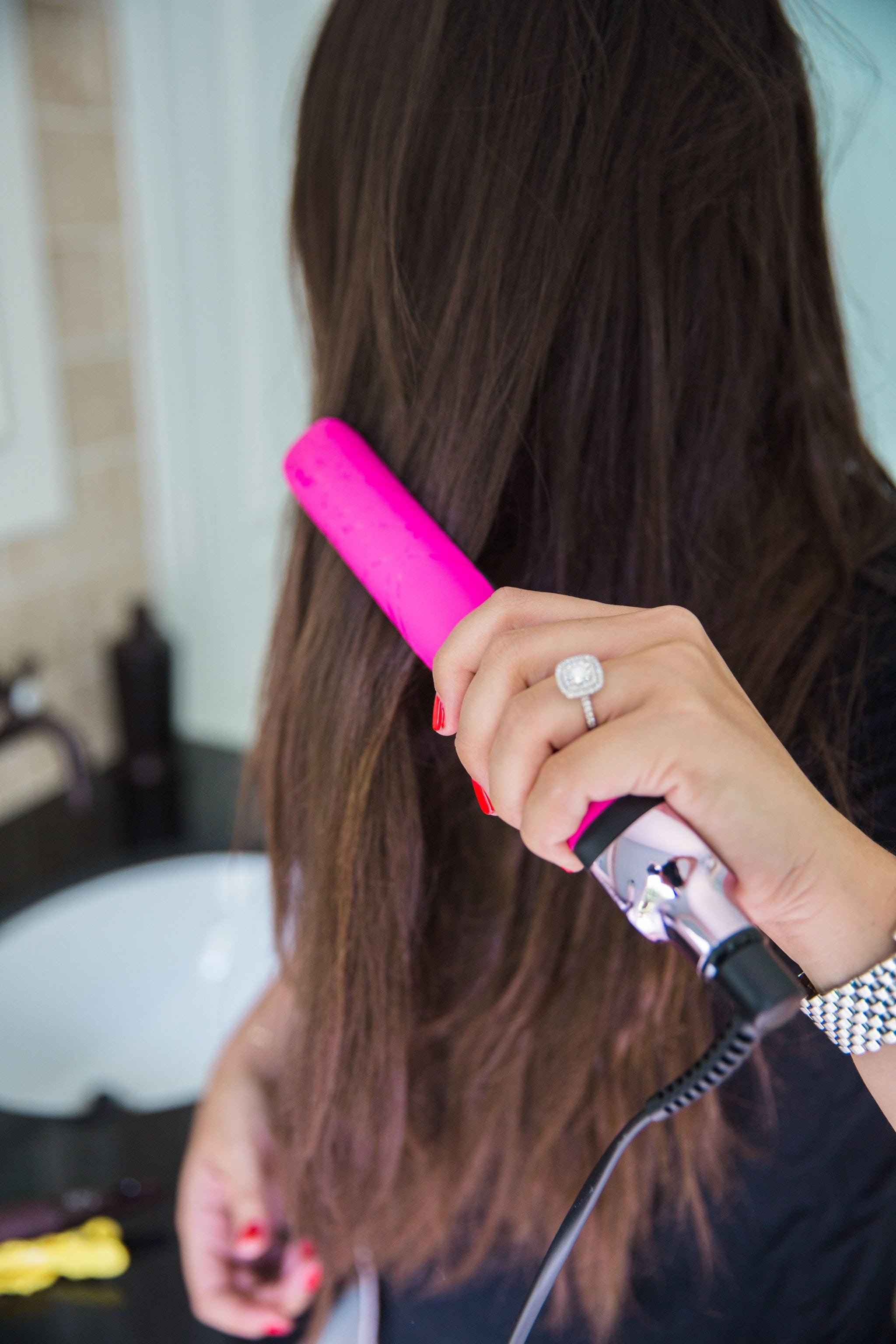 ghd platinum electric pink styler