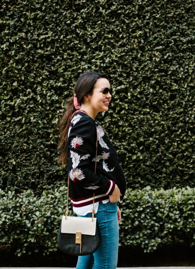 bomber jacket style in the fall