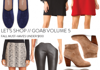 Fall must haves under $100 - girl on a budget shopping