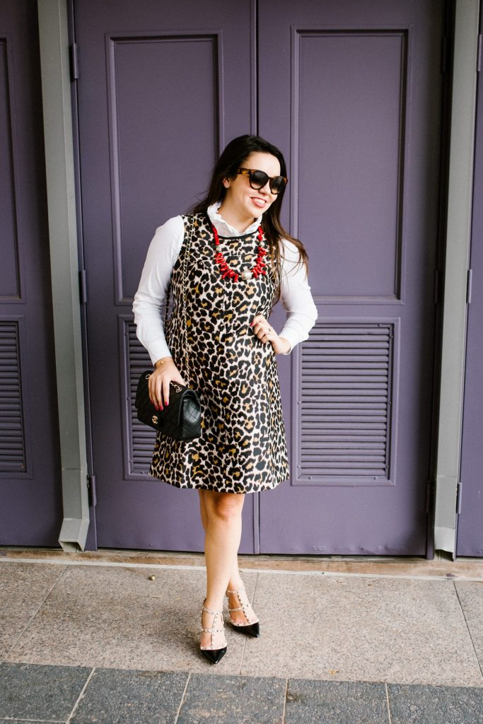 How to transition a sleeveless dress for fall
