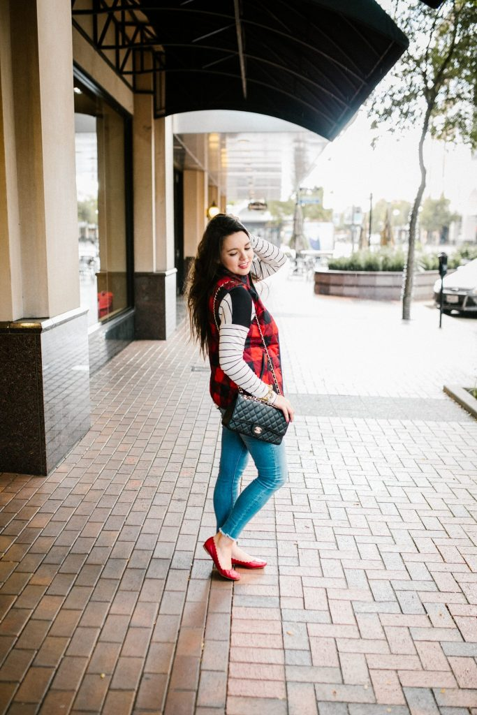 Fall plaid vest - Old Navy