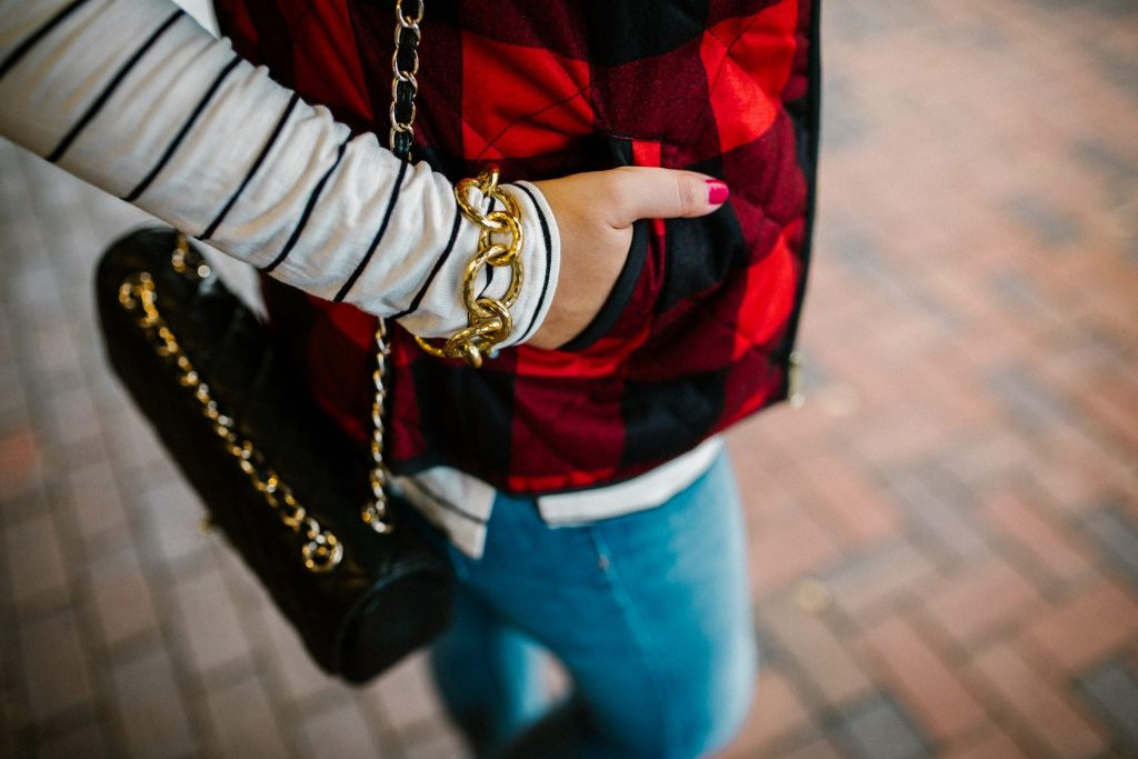 Julie Vos Bali bracelet and vintage Chanel bag