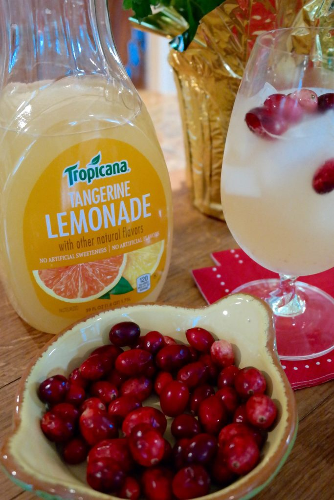 Yum! I love Tropicana Tangerine Lemonade! Try a twist on the drink with a cranberry infused cocktail recipe