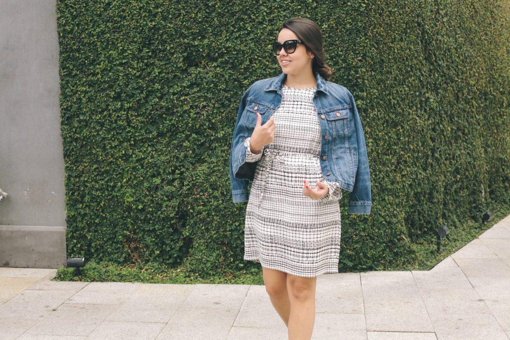 Armani Exchange printed dress