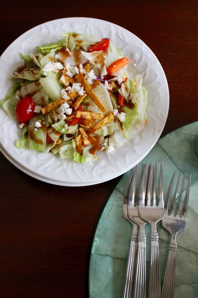 Southwestern salad for an appetizer idea at a dinner party, featuring La Vaquita cheese