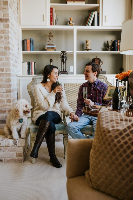 Cheers to the holidays with family and puppies thanks to VOVETI prosecco
