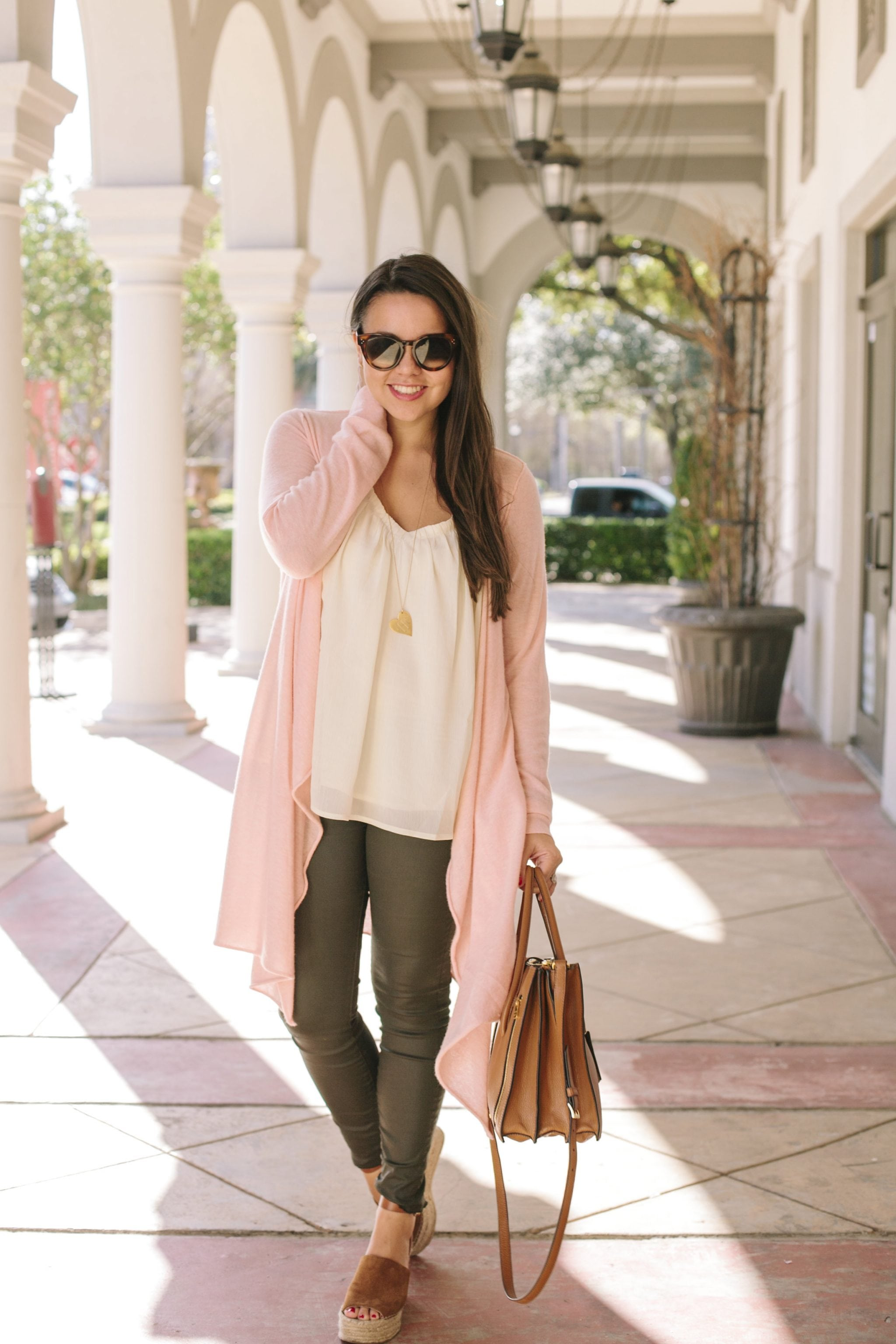 Cashmere duster sweater for spring