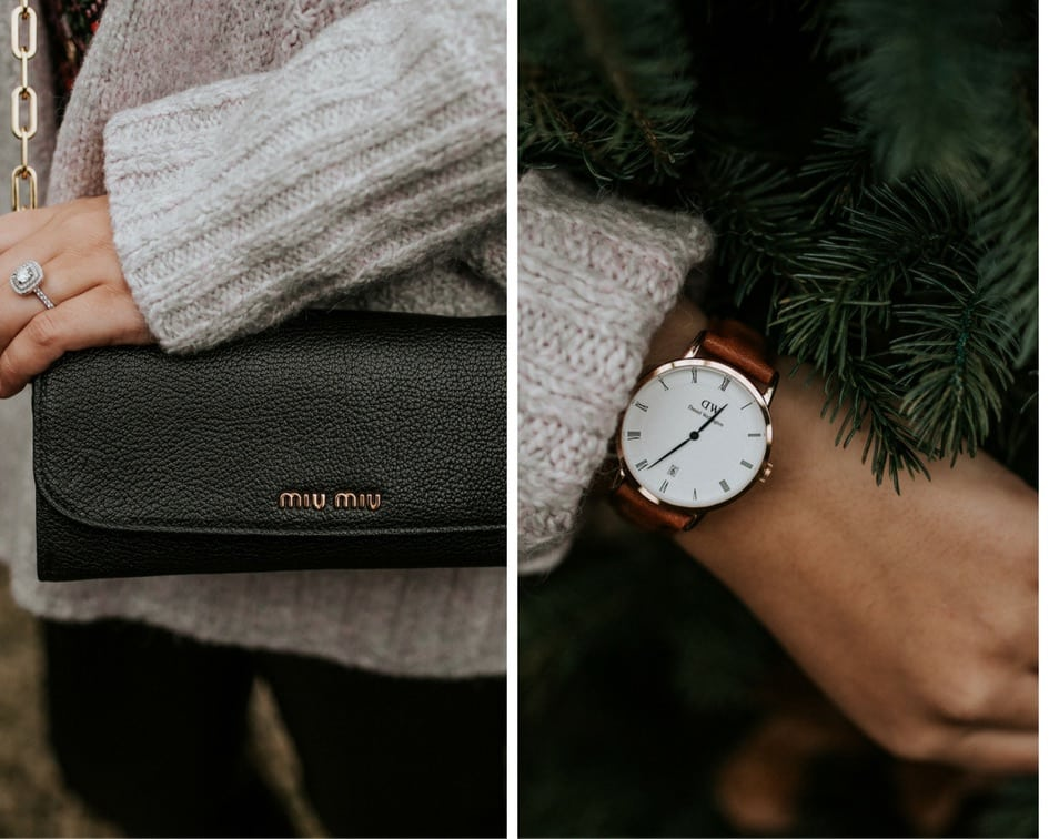 Daniel Wellington watch, Miu Miu wallet