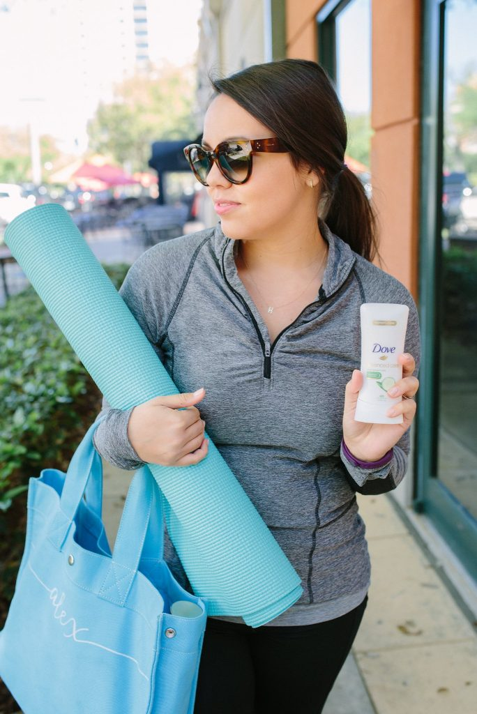 Workout routine with Dove deodorant