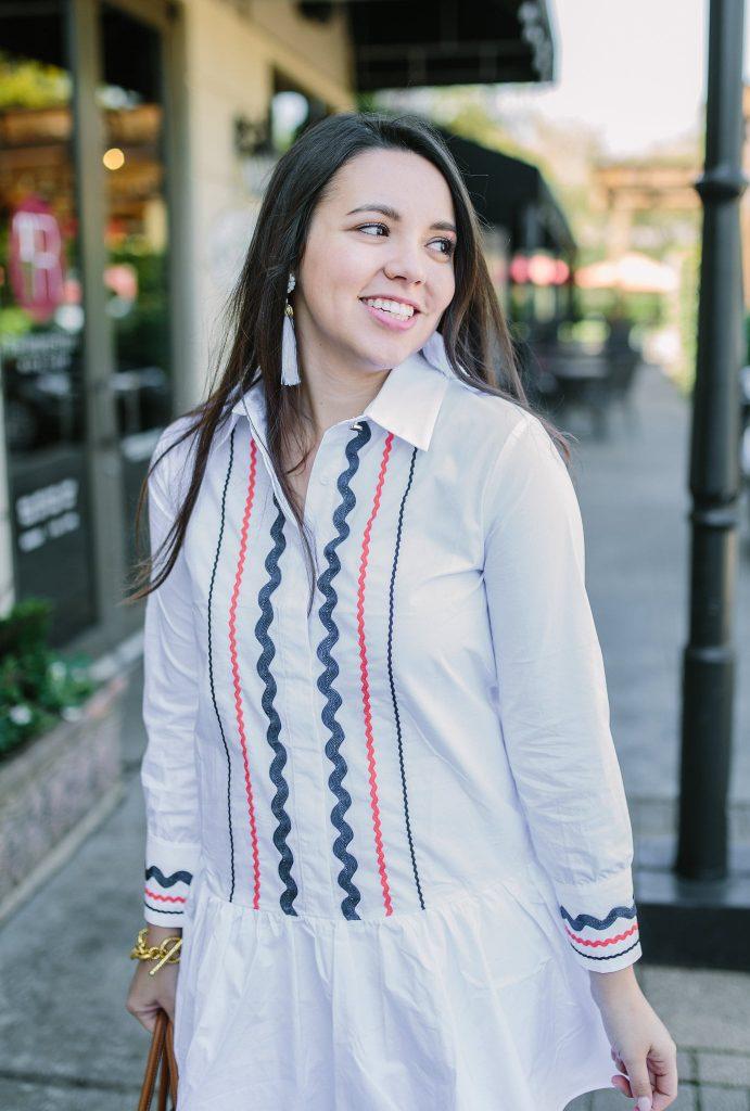 crisp white shirtdress