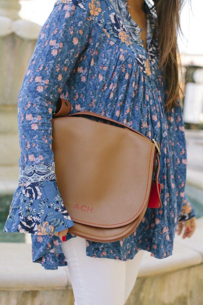 Monogrammed Coach saddle bag