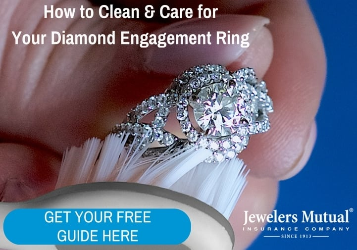 Cleaning and caring for engagement ring
