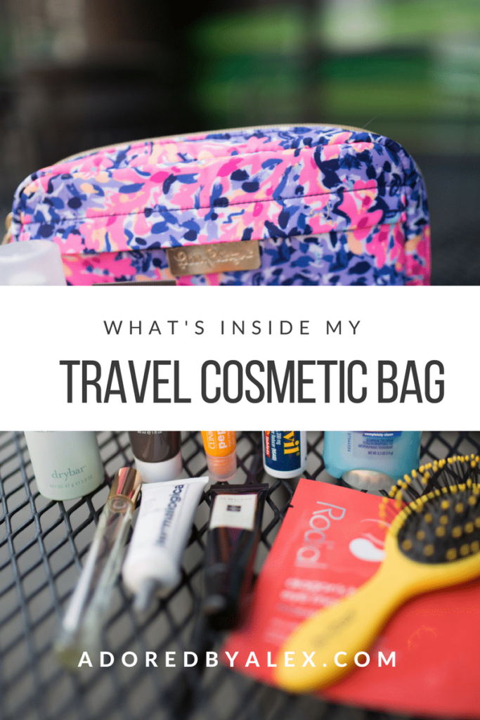What's inside my travel cosmetic bag