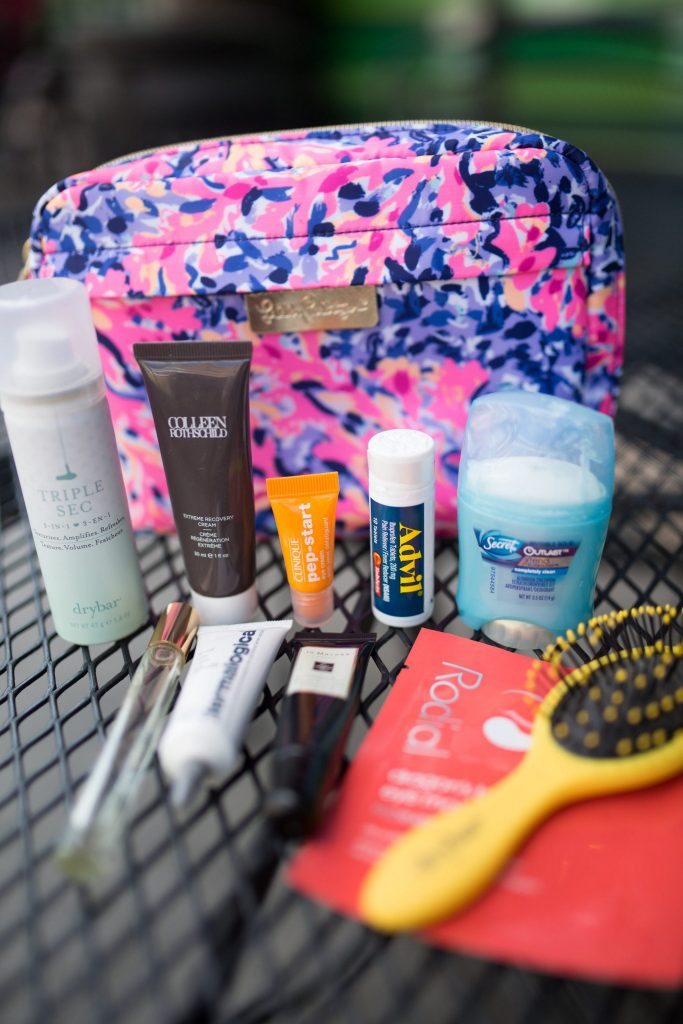 Travel skincare products - packing tips