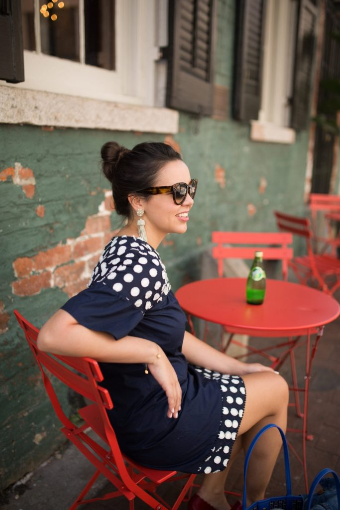 Lisi Lerch tassel earrings, New Orleans travel outfit