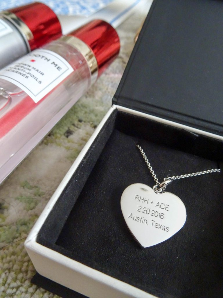 A.Jaffe sterling silver heart pendant | personalized jewelry for the bride