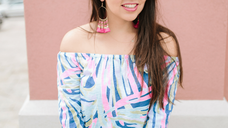 Off the Shoulder Lilly Pulitzer Enna Top