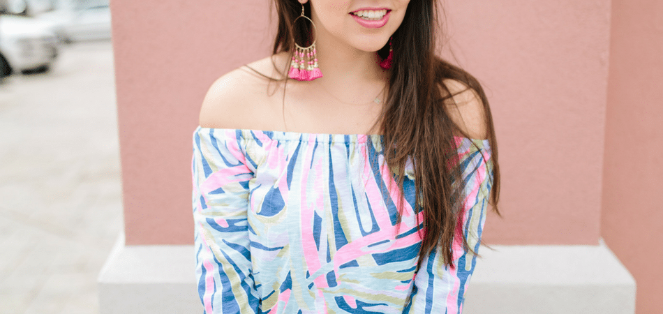 Off the Shoulder Lilly Pulitzer Top