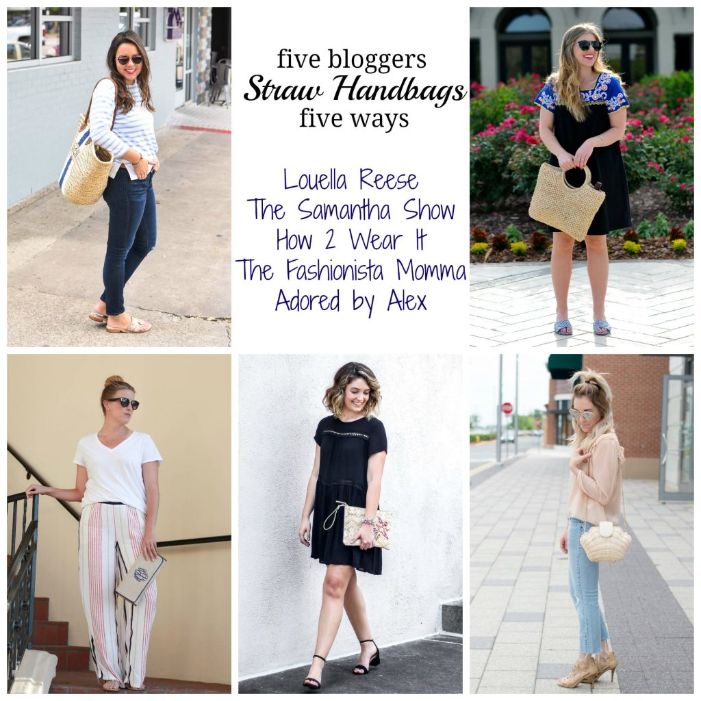 Straw basket bag trend | styling the straw bag for summer