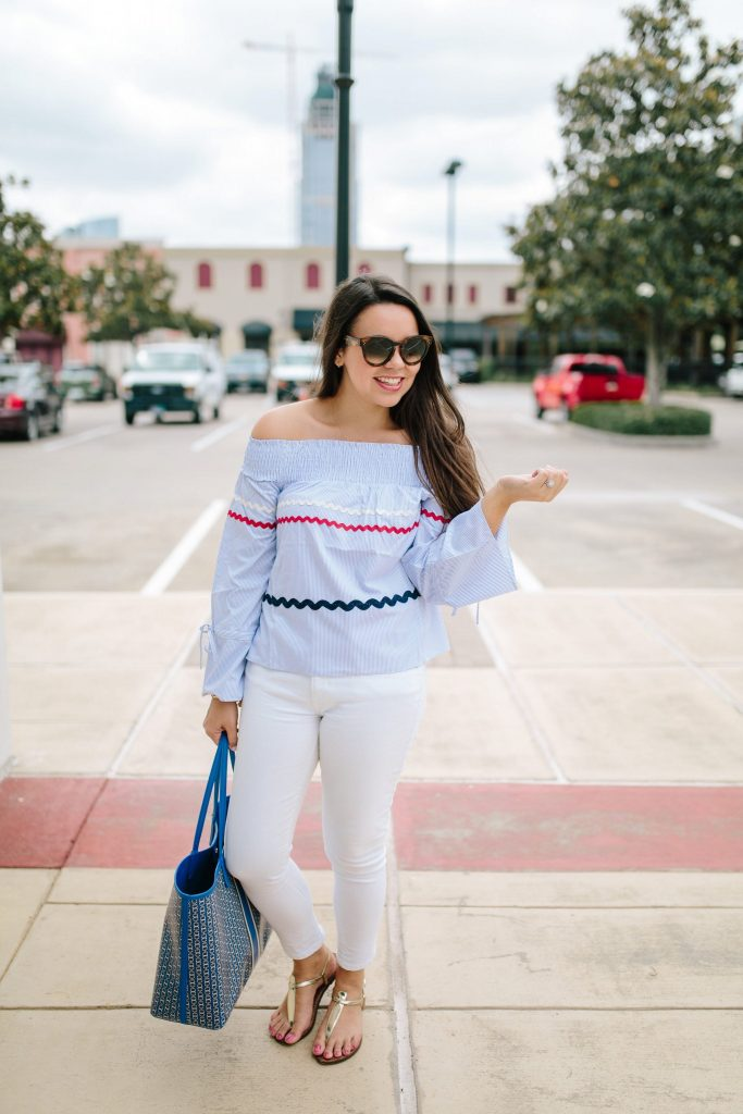 white jeans for summer | styling white denim | preppy style