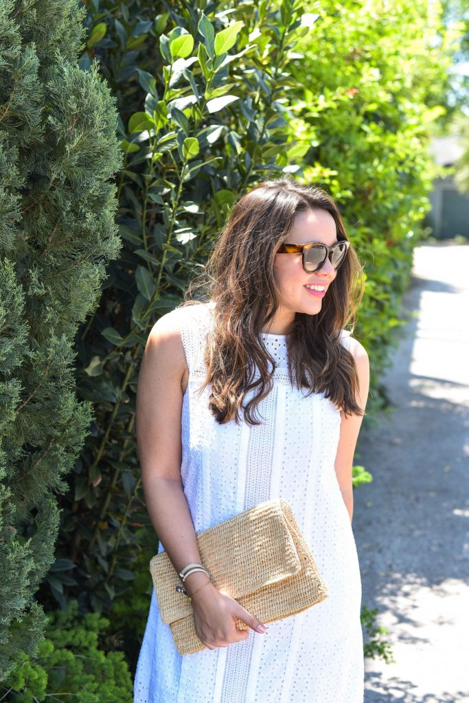 The perfect white eyelet dress for summer