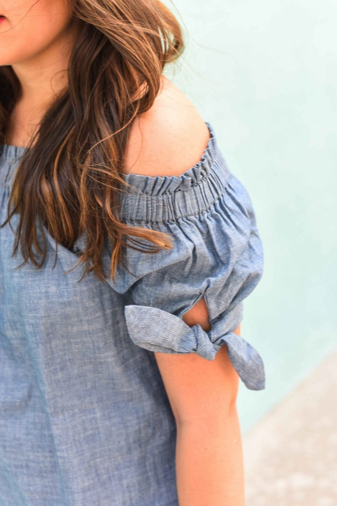 Chambray off the shoulder top | Chambray for summer