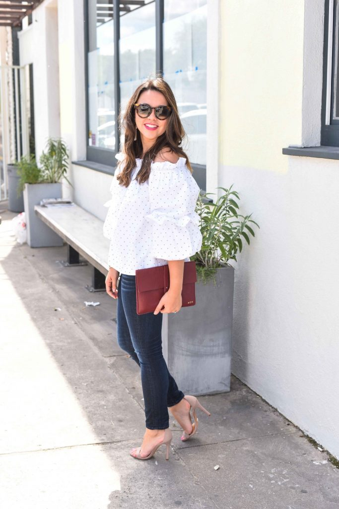 Ruffle off the shoulder top | summer style | #Tuckernucking | statement sleeve top