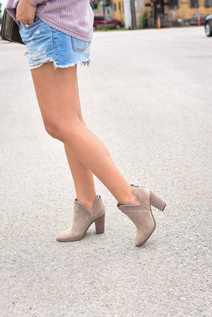 Suede booties under $100 | Nordstrom Anniversary Sale shoes | Block-heeled booties