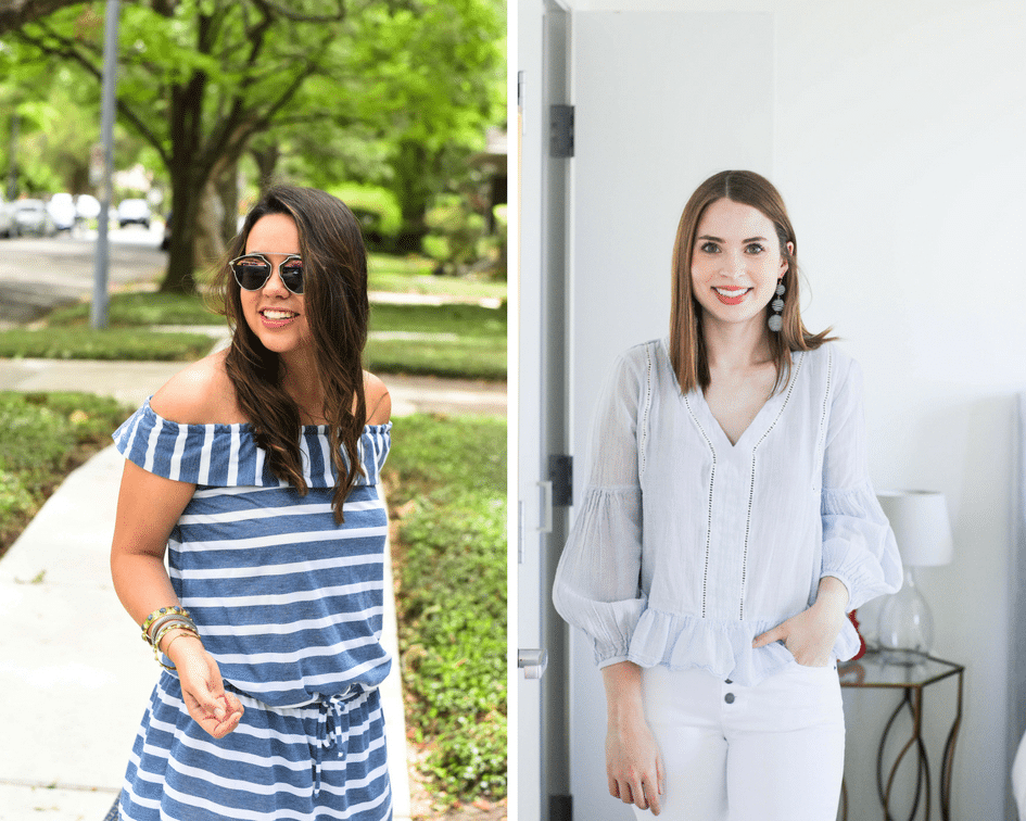 Summer stripes two ways   Blogger outfit ideas