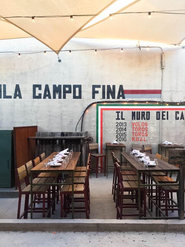 Campo Fina Italian restaurant, Healdsburg