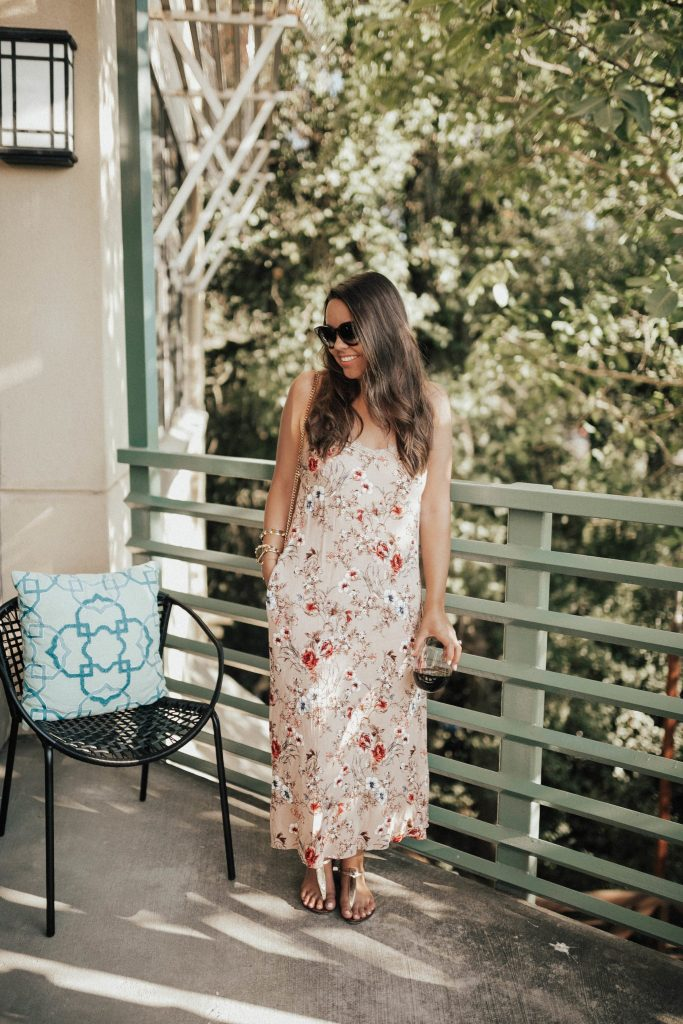Floral maxi slipdress for summer, under $50