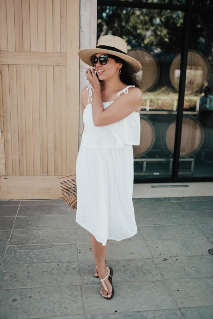 what to wear for a summer in wine county | Healdsburg, California wine tasting