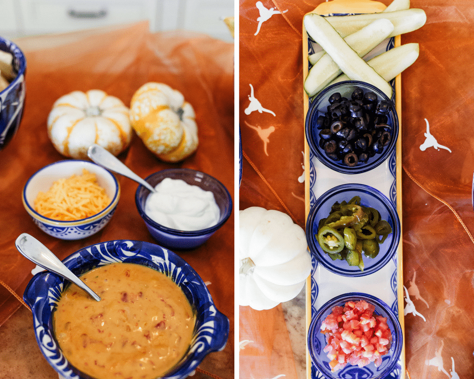 Fall party ideas, build your own nacho bar