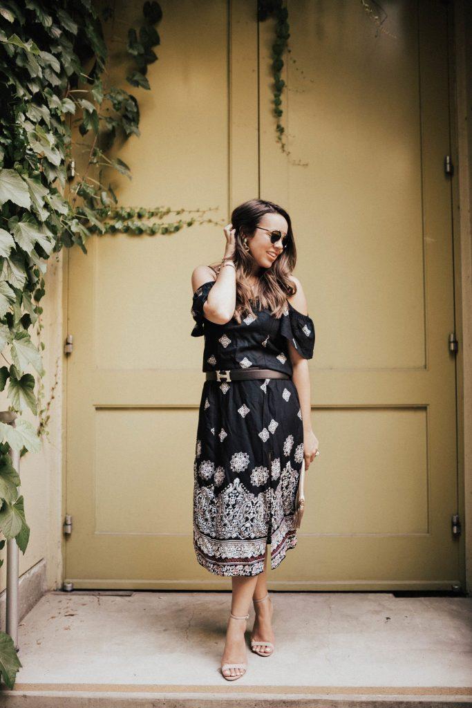 Boho midi dress, boho style