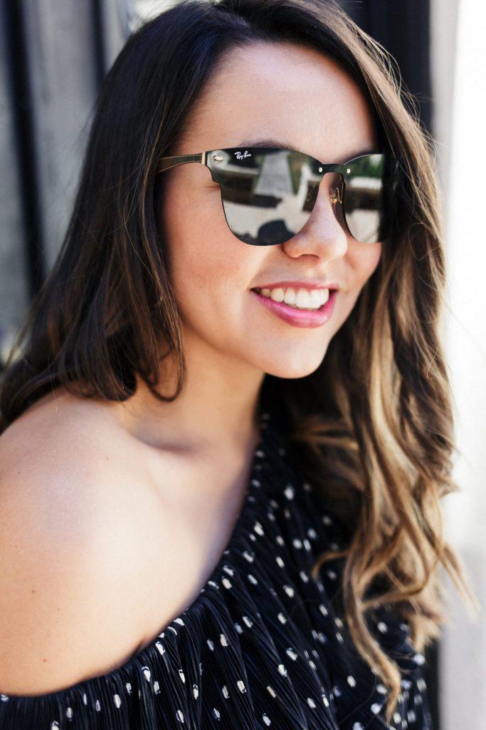 rimless sunglasses, on-trend sunglasses