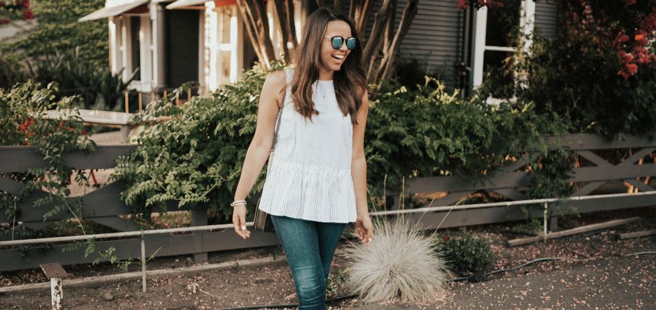 striped peplum top - adored by alex
