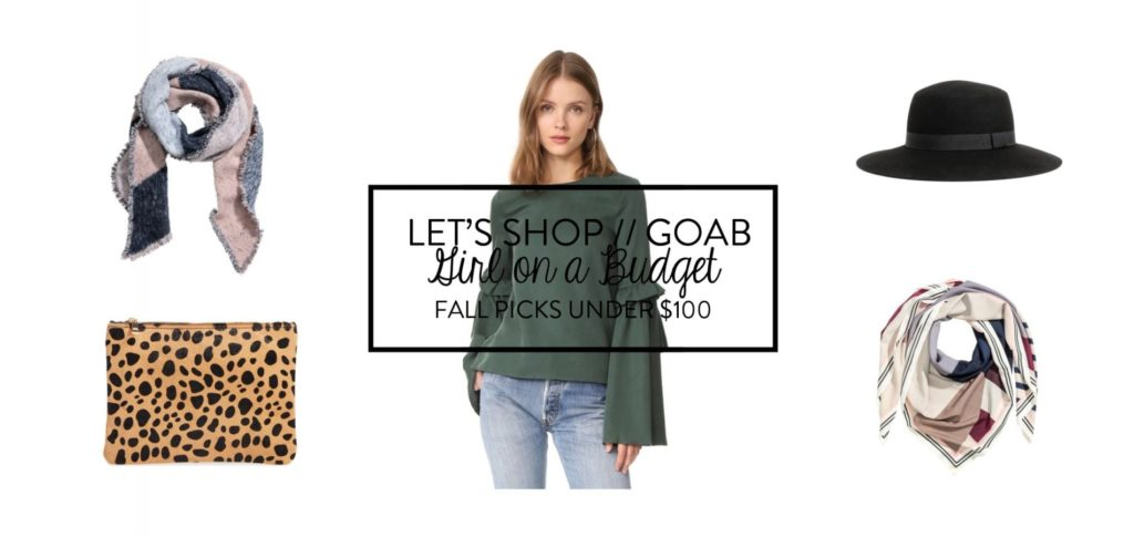 Let's Shop: Girl on a Budget Under $100