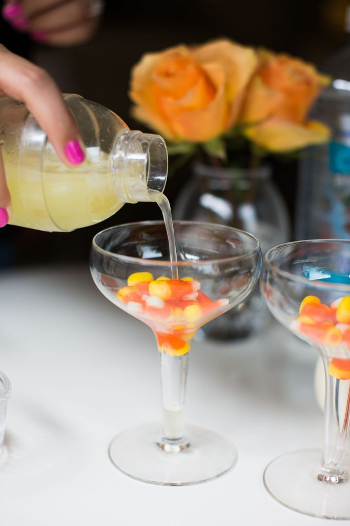 Easy Halloween cocktails, Candy Corn martinis