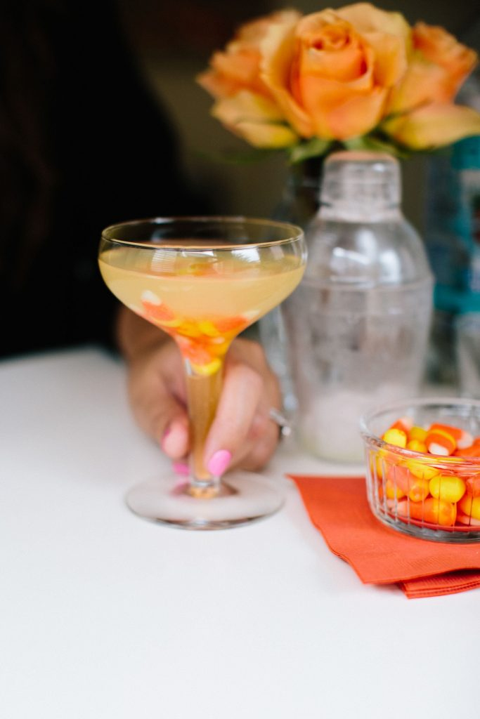 Candy Corn cocktail, Halloween recipe ideas
