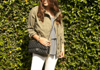 fall military jacket - adored by alex