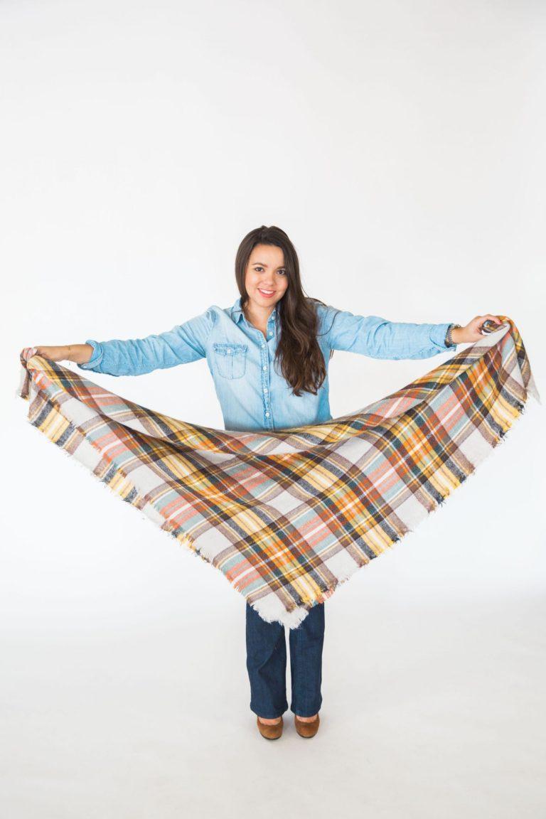 blanket scarf how to tie, handkerchief scarf tie