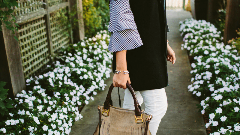 Long-line Vest and Gingham