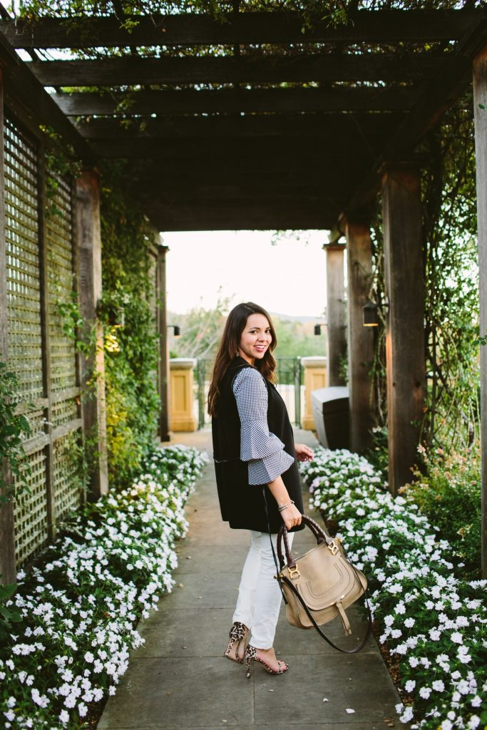 Chloe Marcie Satchel, how to wear white after Labor Day