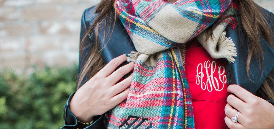 monogrammed holiday style - adored by alex