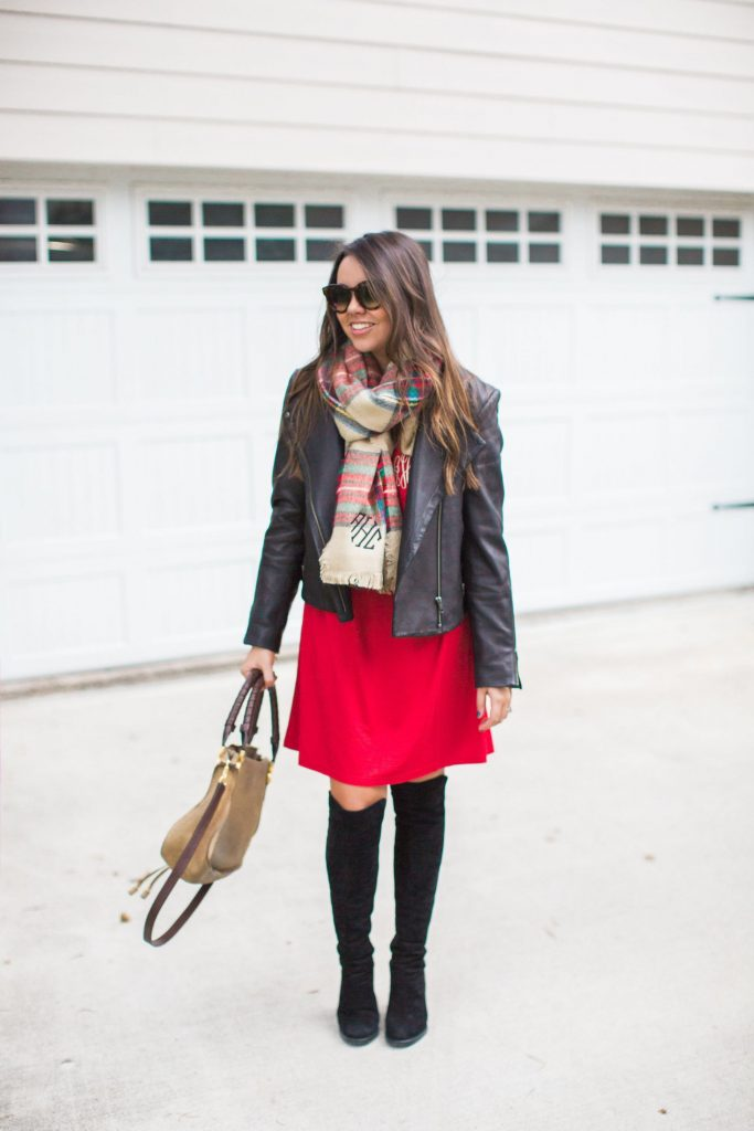 monogrammed gift ideas, holiday outfits, what to wear for a casual holiday party