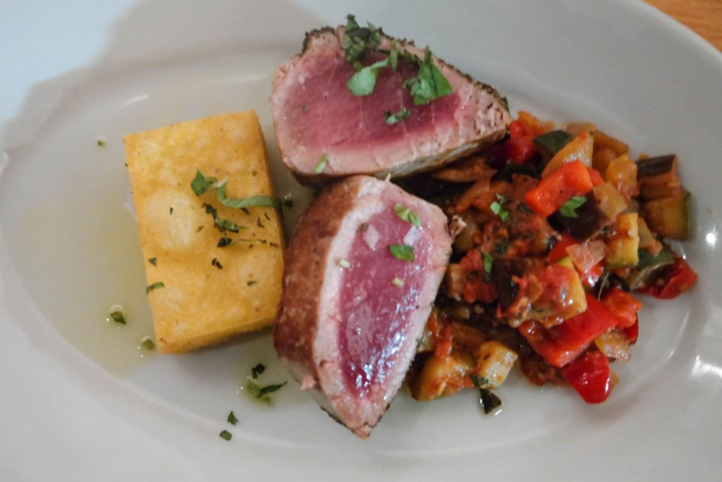 French eats, Ratatouille and seared tuna