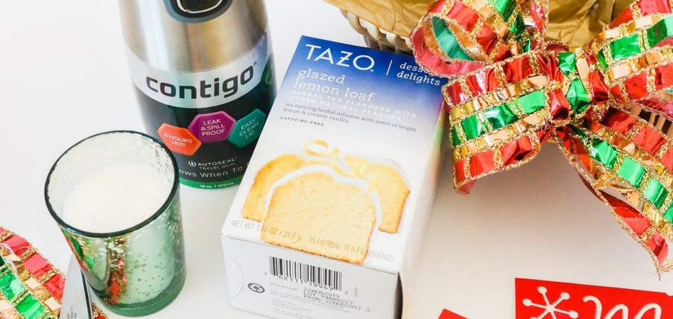 Holiday gift basket Contigo + Tazo at Target - Adored by Alex