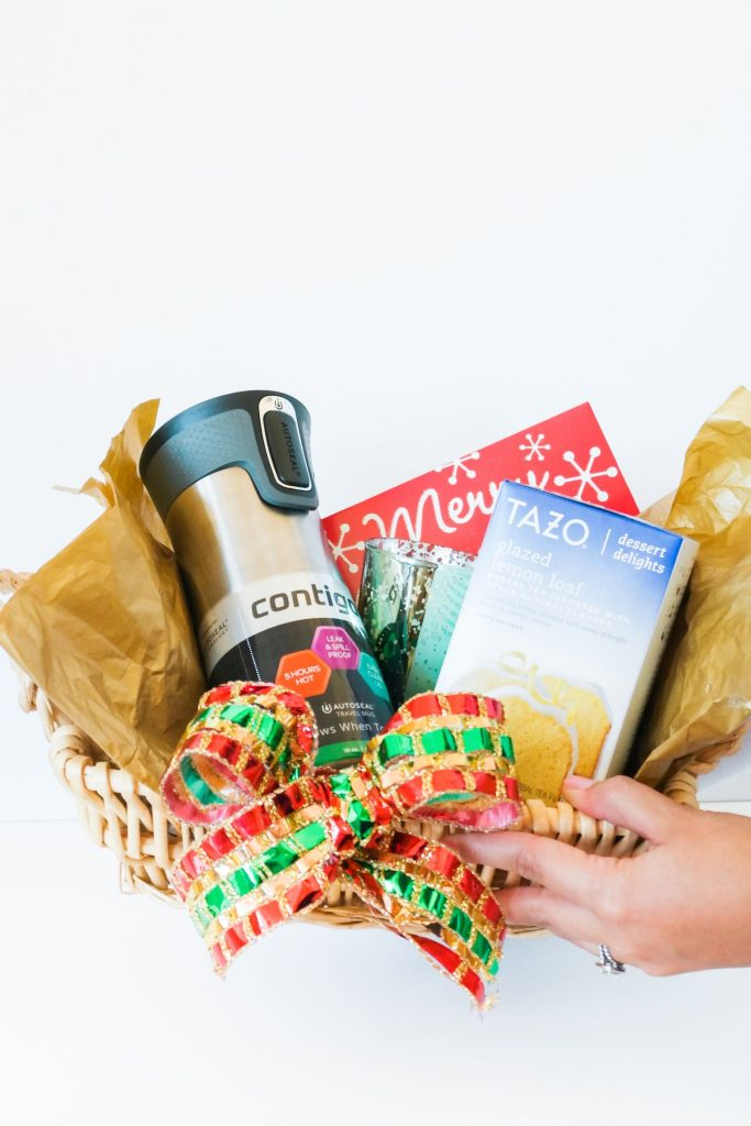 Simple holiday gift basket, Target present ideas